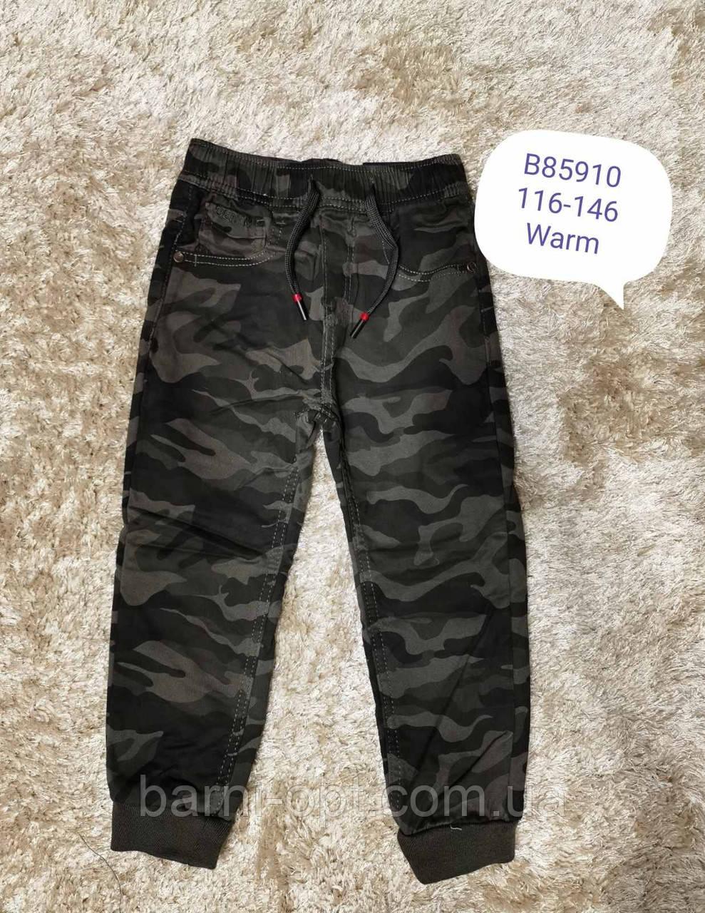 Утепленные брюки-джоггеры на мальчиков оптом, Grace, 116-146 рр