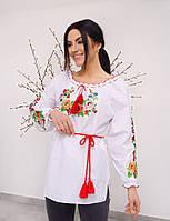"""Стильная женская вышиванка """"Мак цветной """" , размер 46-62"""