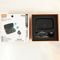 Bluetooth стерео наушники беспроводные c боксом для зарядки Air J16 TWS Original. Цвет: черный