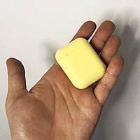 Беспроводные наушники bluetooth-наушники i12 5.0 с кейсом. Цвет: желтый GP