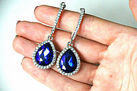 Серьги женские Алюр синие, женские сережки