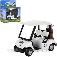 Машина инерционная Kinsmart Golf Cart KS 5105 W, металлопластик, инерция, цвет белый