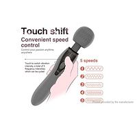 Вибратор микрофон со стимуляцией, Вибромассажер стимулятор с USB, Ручные массажеры для тела женщин
