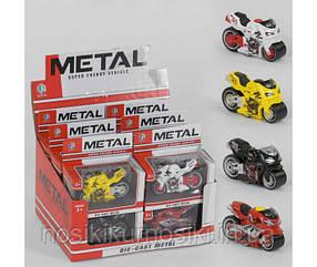 Мотоцикл металлопластик M 8618 K, инерция, цвет желтый