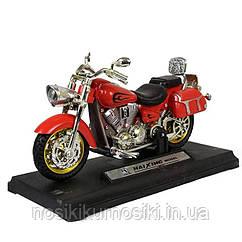 Мотоцикл металлопластик HX0031, свет, звук, цвет красный