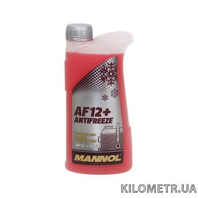 Антифриз Mannol AG12 готовий червоний -40С 1л
