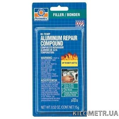 Компаунд для ремонту високотемпературних алюмінієвих сполук Permatex® Hi-Temp Aluminum Rep15 грм