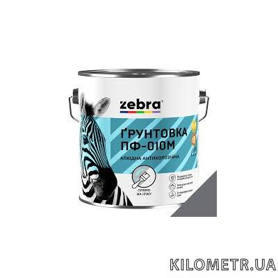 Грунт ЗЕБРА ПФ-010М з модифікатором іржі темно сірий 50кг
