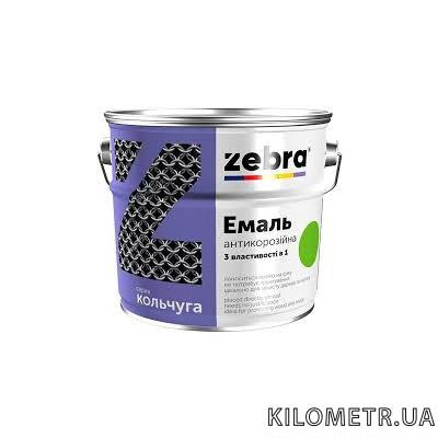 Емаль 3в1 ZEBRA темно-коричнева Кольчуга 2кг