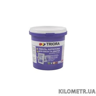 Емаль для вікон і дверей  білий напівглянець TRIORA 0,4л