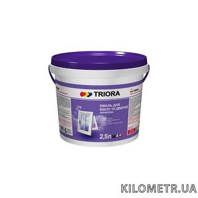 Емаль для вікон і дверей білий напівглянець TRIORA 2,5 л