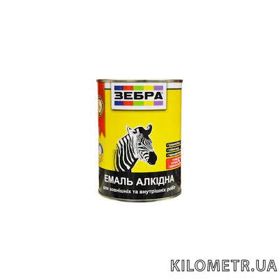 Емаль ЗЕБРА ПФ-116 алкідна біла 0,9кг