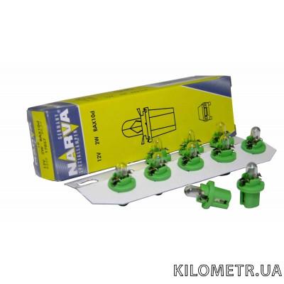 Галогенна лампа NARVA T5 12V 2W (17057) (зелена)