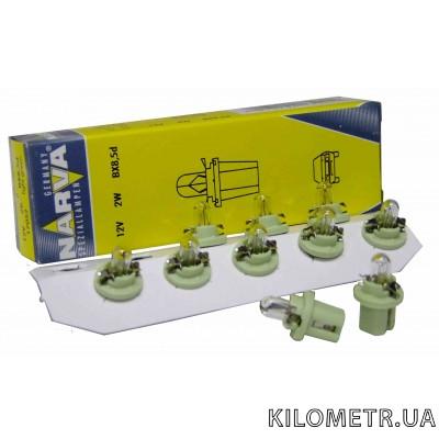 Галогенна лампа NARVA T5 12V 2W (17052) (зелена)