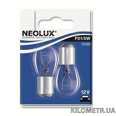 Галогенная лампа Neolux P21/5W 12V 21/5W (N38002B)2шт