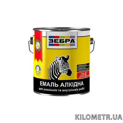 Емаль ЗЕБРА ПФ-116 алкідна темно-сіра 0,9 кг