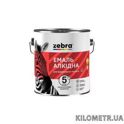 Емаль ЗЕБРА ПФ-266 для підлоги червоно-коричнева 2,8 кг