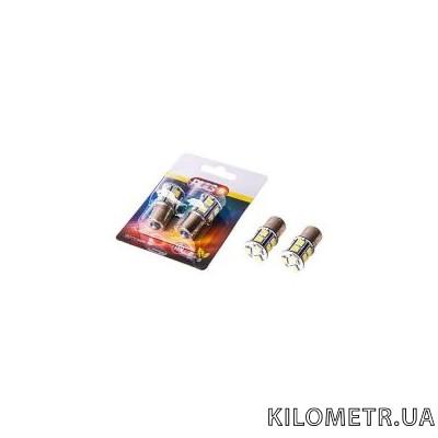 Светодиодная лампа PULSO LED S25/BAY15d/48SMD(6*5050+42*3528)/12v/White/2 конт.(LP-25480 )