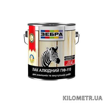 Лак алкідний глянцевий ЗЕБРА ПФ-110 0,4 кг