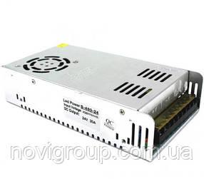 Імпульсний блок живлення 24В 20А (480Вт) перфорований