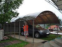 Проекты гаражей на 2 машины с навесом