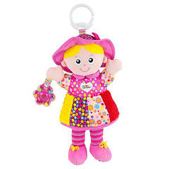 М'яка іграшка-підвіска Lamaze Лялька Емілі з брязкальцем (L27026)