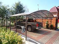 Автонавес из дерева на три автомобиля