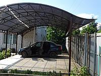 Строительство навеса для автомобиля