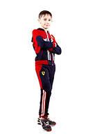 Детский спортивный костюм на мальчиков двухнитка с элостаном