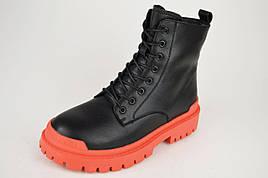 Ботинки с красной подошвой V.I.konty 0872 39 Черный кожа