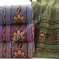Махровое банное полотенце Цветок с листиком (8)