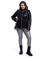 Укорочені куртки жіночі осінні з капюшоном розміри 50-60