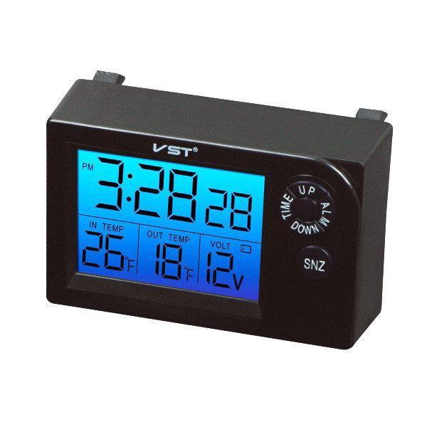 Термометр+годинник+вольтметр PTVS 7048V в штатне місце на ВАЗ 2110, 2111, 2112