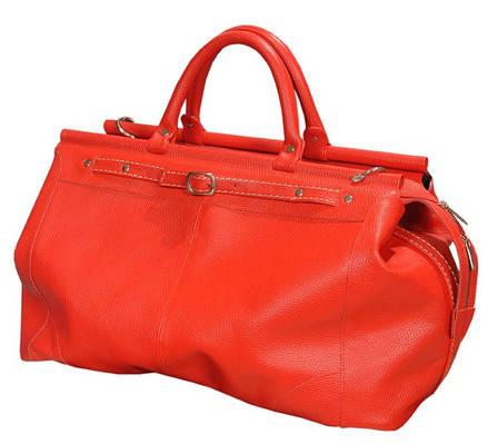 """Яркая кожаная сумка-саквояж """"Woman in red"""" 28 л SB 1995 702052 красная"""