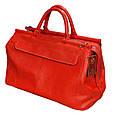 """Яркая кожаная сумка-саквояж """"Woman in red"""" 28 л SB 1995 702052 красная, фото 2"""