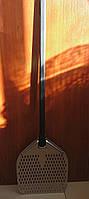 Перфорована лопата для піци 31х35 см, металева ручка, довжиною 142 см