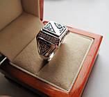 Печатка мужская серебряная Филигрань 30090, фото 4