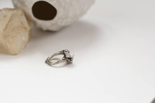 Срібне кільце з малим бароковим перлами OOAK, фото 2
