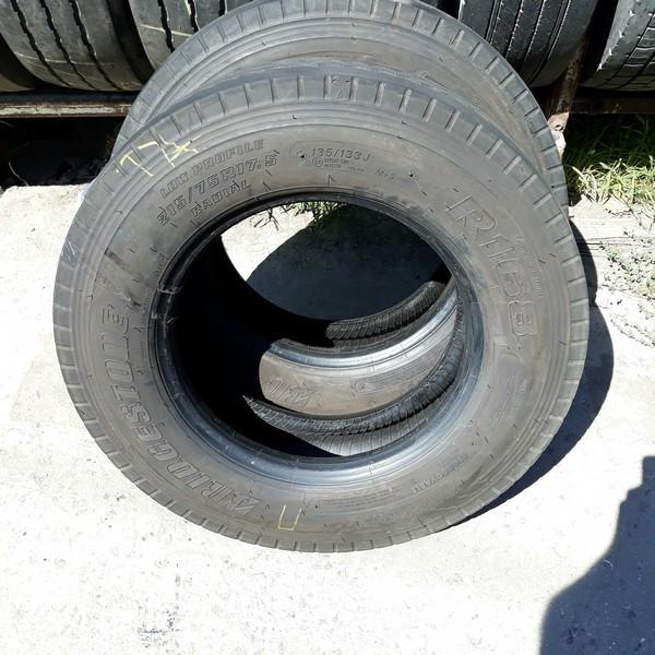 Шины б.у. 215.75.r17.5 Bridgestone R168 Бриджстоун. Резина бу для грузовиков и автобусов