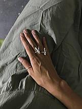 Срібне кільце заєць (one size), фото 3
