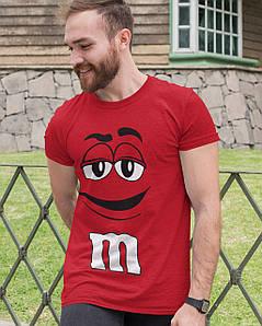 """Футболка чоловіча червона з принтом """"M&M's"""""""