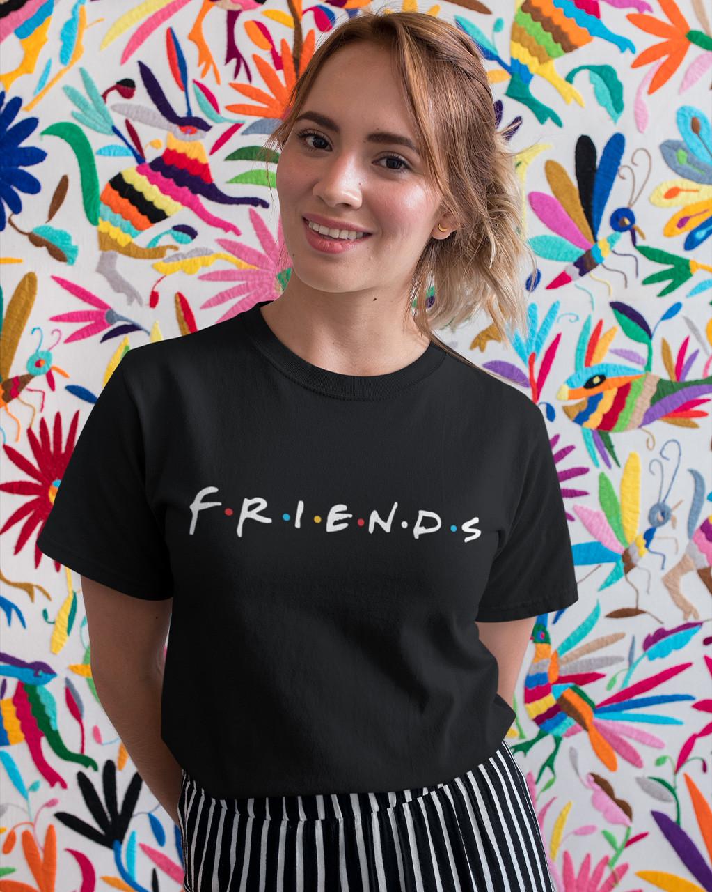 """Футболка женская чёрная с принтом """"Friends"""""""
