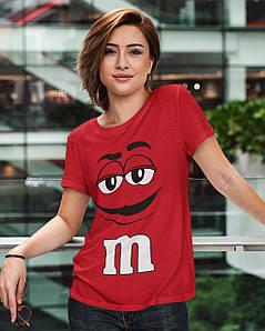 """Футболка жіноча червона з принтом """"M&M's"""""""