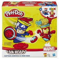 Набор для творчества Hasbro Play-Doh Герои Марвел Железный Человек и Капитан Америка (B0594-2)