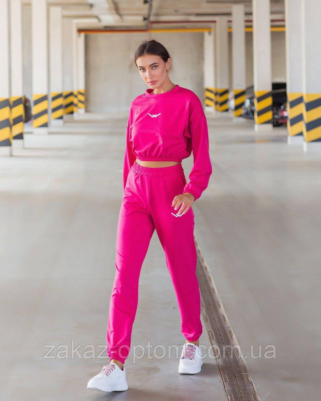 Костюм женский двухнить с накатом оптом (42-46)Украина 5004-79253