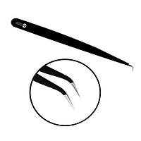 Bronsun / Пинцет для ресниц ультратонкий (изогнутый)