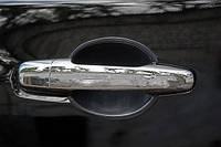 Хром накладки на ручки на Мицубиси L-200 с 06> (нерж.)