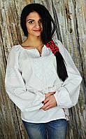"""Женская вышиванка """"белым по белому"""" UA-10"""
