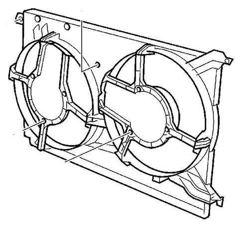 Диффузор вентилятора радиатора (на 2 вентилятора) Opel Vectra-C Signum