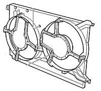 Диффузор вентилятора радиатора (на 2 вентилятора) Opel Vectra-C Signum General Motors 24410993 /